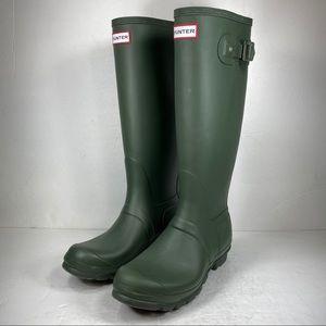 Hunter Original Tall Olive Green Rubber Rain Boots
